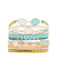 Hipanema - Blue Chamade Beaded Bracelet - Lyst