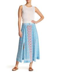Nanette Lepore | Blue Street Fair Silk Skirt | Lyst