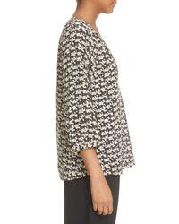 Joie - Multicolor 'coralee' Horse Print Silk Peasant Blouse - Lyst