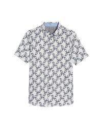 Ted Baker   White Lonpalm Print Sport Shirt for Men   Lyst