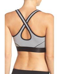 2xist - Gray Cross Back Sports Bra - Lyst