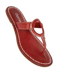 Bernardo - Red Matrix Thong Sandal - Lyst