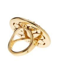 Kate Spade | Metallic Gold Plated Embellished Grapefruit Ring | Lyst