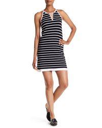 525 America | Black Stripe Lattice Dress | Lyst