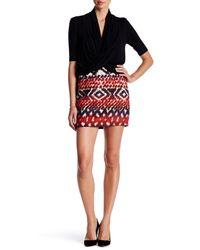Fifteen Twenty | Red Blanket Stitch Hem Skirt | Lyst