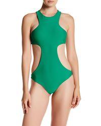 Mikoh Swimwear   Green Osaka Racerback Cutout One-piece Suit   Lyst