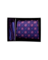 Ted Baker | Purple Silk Kyle Floral Neat Tie & Pocket Square Set for Men | Lyst