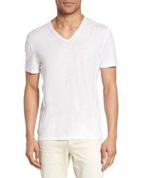 John Varvatos - White V-neck T-shirt for Men - Lyst
