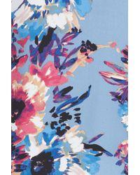 Charles Henry | Blue Tie Neck Shift Dress | Lyst