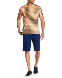 Micros - Blue Belted Twill Short for Men - Lyst