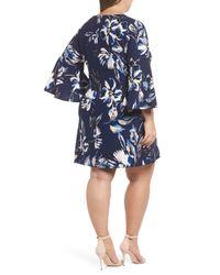 Eliza J Blue Bell Sleeve Shift Dress (plus Size)