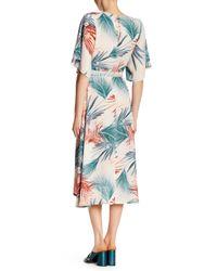 Dress Forum - Blue Tropical Kimono Style Wrap Around Maxi Dress - Lyst