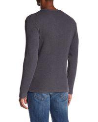 Joe's Jeans - Gray Wintz Long Sleeve Waffle Henley for Men - Lyst