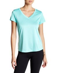 90 Degree By Reflex - Blue V-neck Performance Tee - Lyst