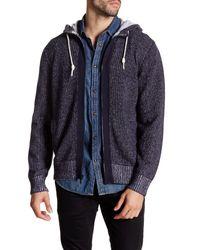 Calvin Klein Jeans | Blue Zip Knit Hoodie for Men | Lyst