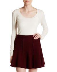 INHABIT | White Scoop Neck Cashmere Blend Sweater | Lyst