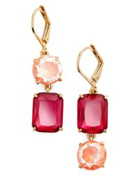 Kate Spade - Pink Shine On Mismatched Drop Earrings - Lyst