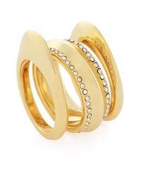 Botkier - Metallic Ornate Stacked Ring - Size 7 - Lyst