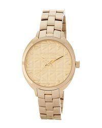 Karl Lagerfeld | Metallic Women's Kuilted Bracelet Watch | Lyst