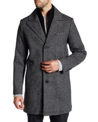 Kenneth Cole - Black Layered Notch Collar Coat for Men - Lyst