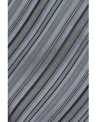John Varvatos - Gray John Varvatos Star Usa Stripe Silk Tie for Men - Lyst
