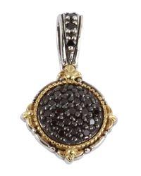 Konstantino - Metallic Sterling Silver & 18k Gold Round Black Diamond Pendant - 0.39 Ctw - Lyst