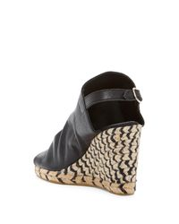 Patricia Green - Black Cher Leather Espadrille Wedge - Lyst