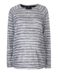 TOPSHOP - Gray Maternity Space Dye Sweatshirt - Lyst