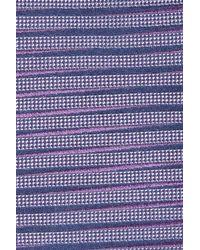 Calibrate - Purple Brewer Stripe Silk Tie for Men - Lyst