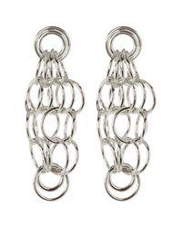 Nest - Metallic Silver Loop Earrings - Lyst