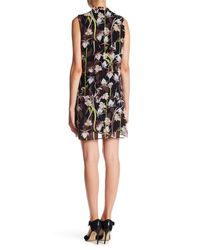 Philosophy Apparel - Black Sleeveless Floral Dress - Lyst