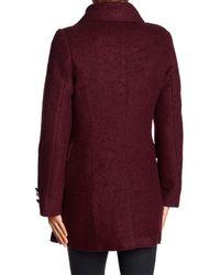 Laundry by Shelli Segal - Purple Boucl? Military Coat - Lyst