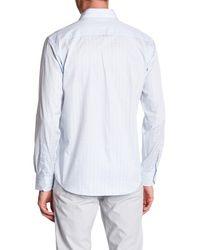 Bugatchi - Blue Print Classic Fit Shirt for Men - Lyst