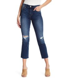 Level 99 Blue Bailey High Rise Distressed Jeans