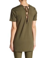 PUMA - Green Lace Up Rope Tunic - Lyst