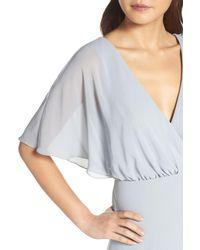 Watters   Blue Lottie A-line Chiffon Gown   Lyst