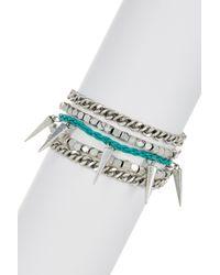 Rebecca Minkoff | Metallic Multi-row Bracelet | Lyst