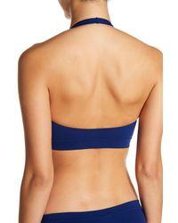 Wolford Blue Seamless Halter Bikini Top