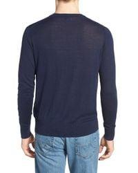 Jeremy Argyle Nyc | Blue V-neck Sweater for Men | Lyst