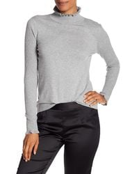 Cece by Cynthia Steffe - Gray Ribbed Turtle Neck - Lyst