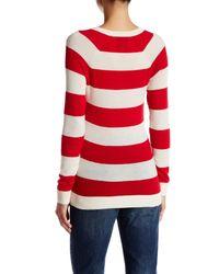 Lands' End - Red Cashmere V-neck Sweater - Lyst
