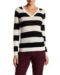 Lands' End - Black Cashmere V-neck Sweater - Lyst
