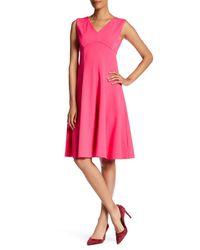 Lands' End | Pink Empire Waist Midi Dress | Lyst