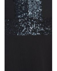 Dress the Population - Black Delani Sequined Crepe Gown - Lyst