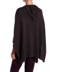 Acrobat - Black Hooded Knit Poncho - Lyst