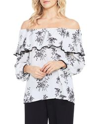 3db851c852c79 Lyst - Vince Camuto Delicate Bouquet Off-the-shoulder Blouse in White