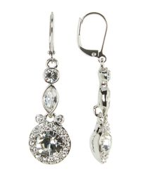 Givenchy | Multicolor Small Double Drop Crystal Earrings | Lyst