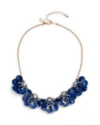 Kate Spade - Blue Snowy Nights Sequin Necklace - Lyst