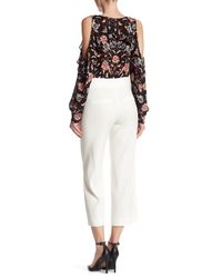 Veronica Beard - White Imperial Cropped Tie Waist Pant - Lyst