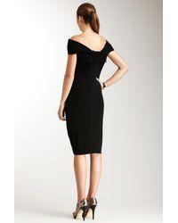 Rachel Roy - Black Matte Jersey Drop Collar Dress - Lyst